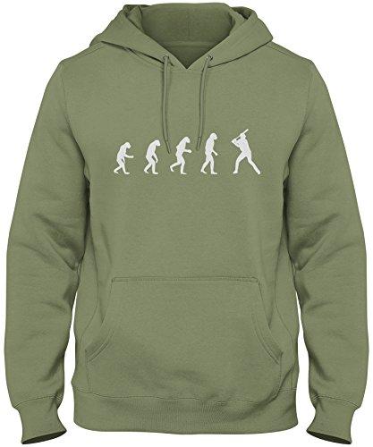 Series Mgx (ShirtLoco Men's Evolution Of Man To Baseball Player Hoodie Sweatshirt, Military Green Extra Large)
