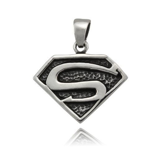 925 Sterling Silver Superman Pendant