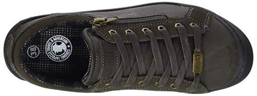 kaki Mujer Chica De Tapiocca Para Zapatos Marrón 0 Coronel Brogue Kaki Cordones 4UvwxO