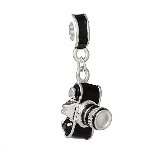 Photographer Camera Dangle Charm Bead for Snake Chain Charm (Camera Charm)