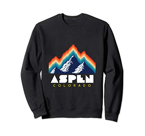 Aspen Colorado - USA Ski Resort 1980s Retro Sweatshirt -