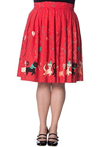 Banned Retro Vintage Cat Party Freedom Circle Skirt Plus Size - - Clothing Uk Banned