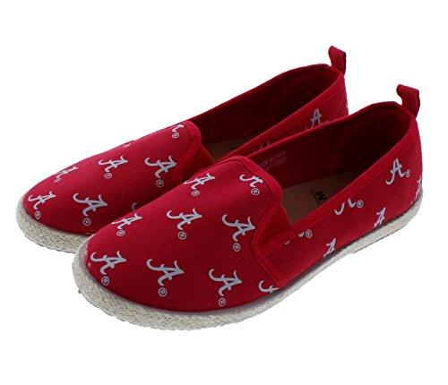 Alabama Crimson Tide NCAA Womens Canvas Espadrille Shoes - Medium (Alabama Crimson Tide Canvas)