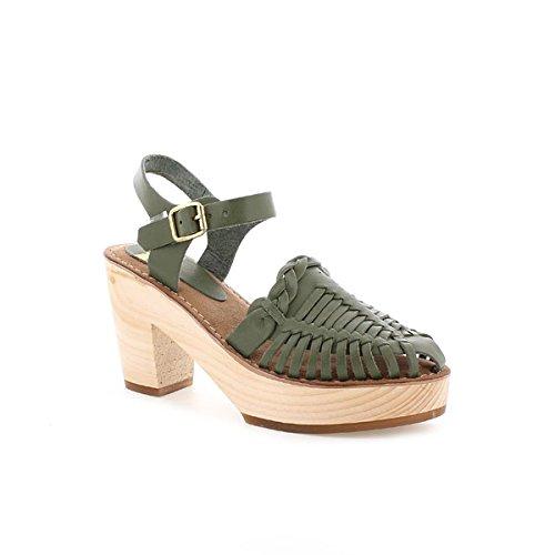 94503 Vaqueta Cuero - Sandalias para Mujer, Color Cuero, Talla 39 Mtng
