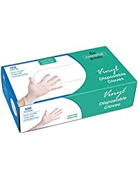 Medical Disposable Vinyl Gloves   Large Size   100 Count   Non Latex Powder Free   Ultra Strong Non Sterile   For Home, Office, Kitchen, Cooking, Everyday Use