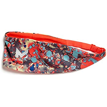 Mission VaporActive Cooling Lockdown Headband, Graffiti Multi High Vis Coral, One Size