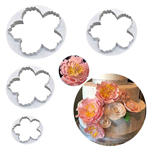 Palker Sky Cake Decorating Gumpaste Flowers & The Easiest Peony Ever Cutter Pack of 4 ...