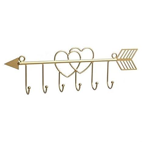 Dcasa - Perchero joyero flecha oro decorativo .: Amazon.es ...