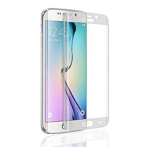 Galaxy S6 EdgeScreen Protector, Mcoolbo Premium 9H 3D Full Cover Tempered Glass Explosion Proof Screen Protector Film For for Samsung Galaxy S6 Edge (HD Clear)