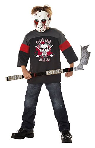 [8eighteen Ice Hockey Jason Blood Sport Child Costume] (New Blood Jason Costume)