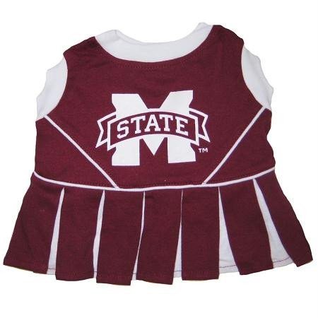 - Pets First Mississippi State Bulldogs Team Pet Dog Cheer Leading Sports Outfit Extra Small