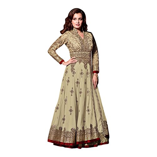 Black Friday Sale velvet Wedding Wear Salwar Suit Lehenga Dress Kaftan Women Muslim Ethnic Traditional 623 (White) by ETHNIC EMPORIUM