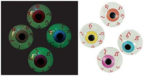 Halloween Glow in the Dark Eyeball Slime, 12 pcs. by Fun Express