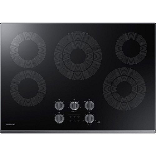 "Price comparison product image Samsung 30"" Black Stainless Steel Electric Smoothtop Stovetop Cooktop NZ30K6330RG"