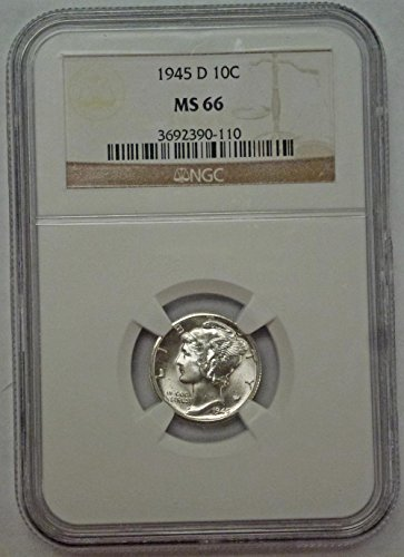 1945 D Mercury Dime MS66 NGC