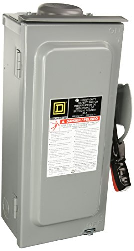 SCHNEIDER ELECTRIC Switch Not Fusible Hd 600-Volt 30-Amp 3-Point Nema-3R HU361RB 600V 30A 3P Nema3R by Schneider Electric