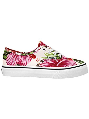 Vans K Authentic, Unisex Kinder Hohe Sneakers (hawaiian floral) white