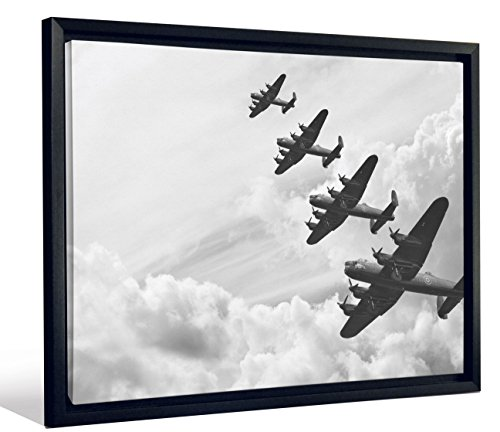 - JP London Framed WWII Propeller Fighter Plane Bombers Gallery Wrap Heavyweight Canvas Art Wall Decor, 20.375