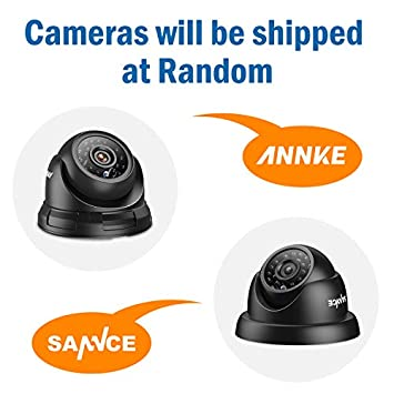 Annke 4-Packed 720P HD-TVI CCTV Security Camera Kit with IP66 Weatherproof,Colorful Night Vision with IR Cut Filter Infrared IR Lens