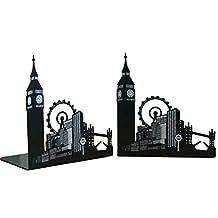 Fancyus London City Big Ben Ferris Wheel Nonskid Bookends, 1 Pair
