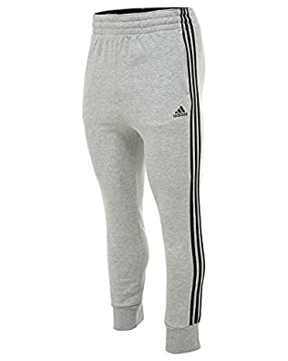 Adidas Slim 3S Sweat Pant Mens Style: M36800-MGREYH/BLACK Size: XL