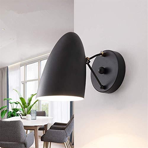 Wall Lights Fixtures Indoor Simple Modern Fashion Nordic Living Room Bedroom Bedside Reading Lamp Adjustable Single Head Black Baking Paint Wrought Iron Wall Lamp E27 Socket Wall Lighting (Fashion Fixtures)