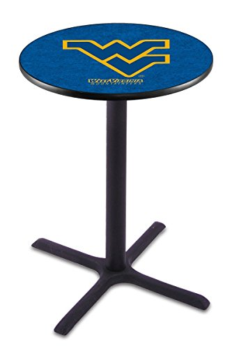 Holland Bar Stool L211B West Virginia University Officially Licensed Pub Table, 28