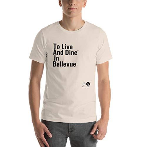 Cream Bellevue - To Live And Dine in Bellevue Men T-Shirt - Soft Cream - S