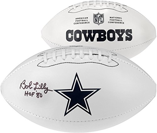 (Bob Lilly Dallas Cowboys Autographed White Panel Football with