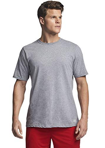 Russell Athletic Men's Essential Short Sleeve Tee, Oxford, L (Gray Tshirt Plain)