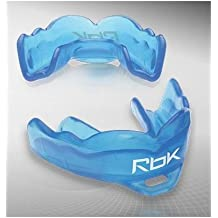 New Reebok Smart Mouth Kids mouth guard ages 5-10 rbk strapped hockey football