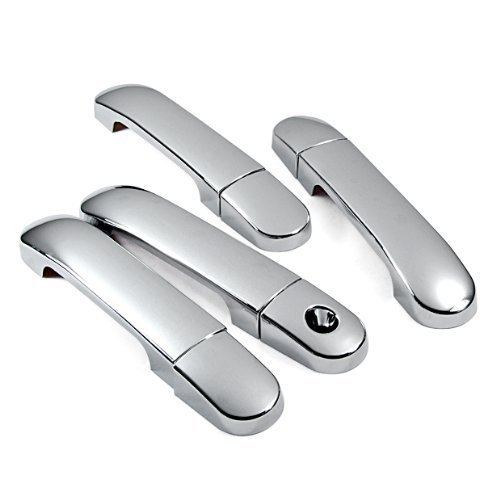 Mirror Chrome Side Door Handle Covers Trims For Nissan 04-09 Nissan Note 04-11 Versa Tiida Latio Brand NEW 2004 2005 2006 2007 2008 2009 2010 2011 (Nissan Note Parts compare prices)