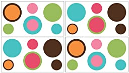 Deco Dot Wall Decal Stickers by Sweet Jojo Designs - Set of 4 Sheets