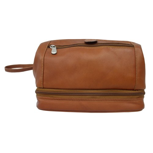 Piel Leather U Frame Utility Kit with Zip Bottom, Saddle, One Size