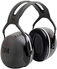 3M Peltor X-Series Protectores supraauriculares, NRR 31 dB, una talla, se ajusta a la mayoría, negro X5A (Paquete con 1)