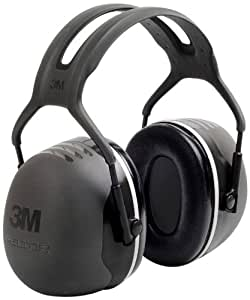 3M Peltor X-Series Over-the-Head Earmuffs, NRR 31 dB, One Size Fits Most, Black X5A (Pack of 1)