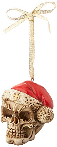 Design Toscano Skelly Claus II Gothic Skull Christmas Tree Ornament, 2 Inch, Polyresin,
