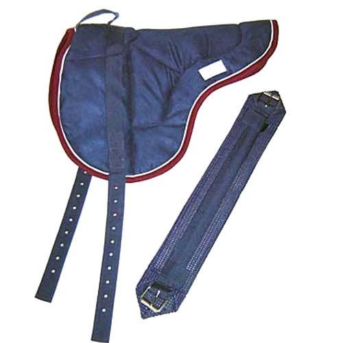 Best Friend Eastern Style Bareback Saddle Pad, Navy/Maroon, Horse Size (Saddle Back Pad)