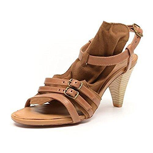 J de zapatos Ante Tantrum Mid Tacón Piel Marrón - marrón