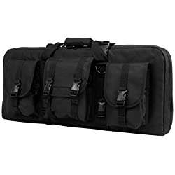 "VISM by NcStar Deluxe AR & AK Pistol & Subgun Gun Case with 3 Accessory Pockets, Black, 28"" L x 13"" H"