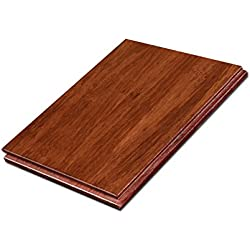 "Cali Bamboo - Solid Wide T&G Bamboo Flooring, Cognac Red - Sample Size 8"" L x 5 3/8"" W x 9/16"" H"