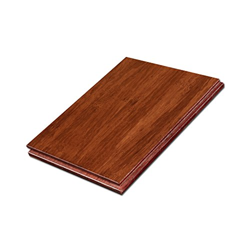 Cali Bamboo - Solid Wide T&G Bamboo Flooring, Cognac Red - Sample Size 8
