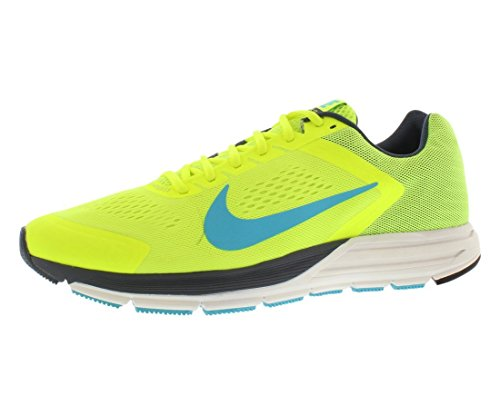 Nike Zoom Structure+ 17 Zapatillas de running, Hombre Verde / Azul (Vlt / Gmm Bl-Dk Armry Bl-Smmt Wh-)