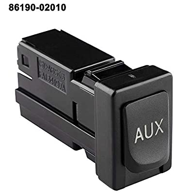 Aux Port Repalacement 86190-02010 for Toyota Corolla Tacoma RAV4 Tundra 08-13 Auxiliary Aux Stereo Adaptor Input Jack: Home Audio & Theater
