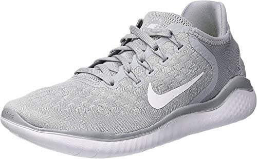 Nike Free Rn 2018 Sz 5 Womens Running Wolf Grey/White-White-Volt Shoes