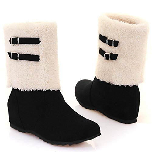 Boots Women's Black TAOFFEN Boots TAOFFEN Women's TAOFFEN Black Ankle Ankle 1HqR55