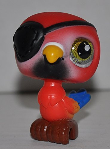 Parrot #331 (Red, Green Eye, Clear Plastic Eye) - Littlest Pet Shop (Retired) Collector Toy - LPS Collectible Replacement Single Figure - Loose (OOP Out of Package & Print)]()
