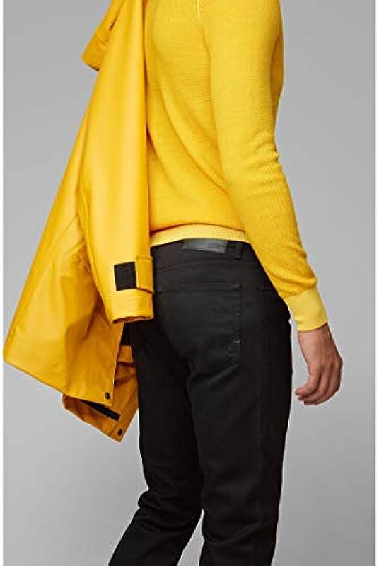 BOSS Męskie dżinsy Maine BC-C Regular-Fit z ciemnego stretchowego jeansu: Odzież