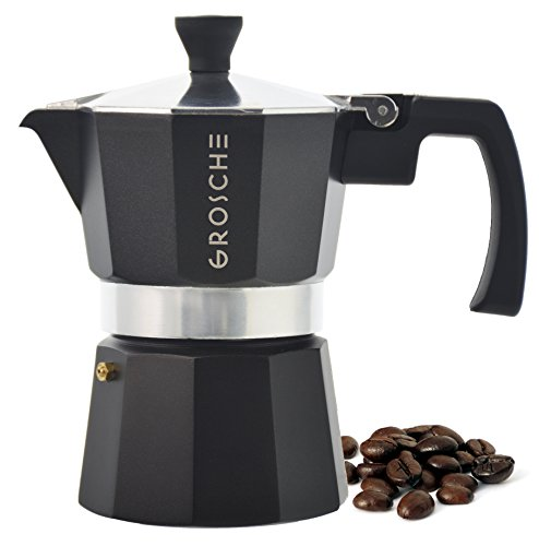 Stovetop Coffee Maker Handle : GROSCHE Milano Moka 3-Cup Stovetop Espresso Coffee Maker with Italian Safety Valve and ...