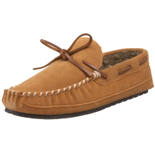 Minnetonka Men's Casey Slipper,Cinnamon Suede,10 M US
